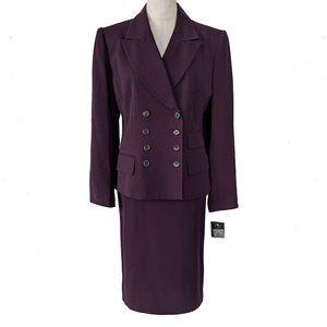 KASPER NWT Skirt Suit 10 Military Blazer